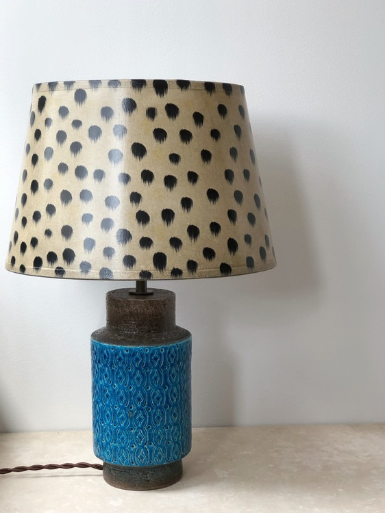 Bitossi Turquoise Ceramic Table Lamp