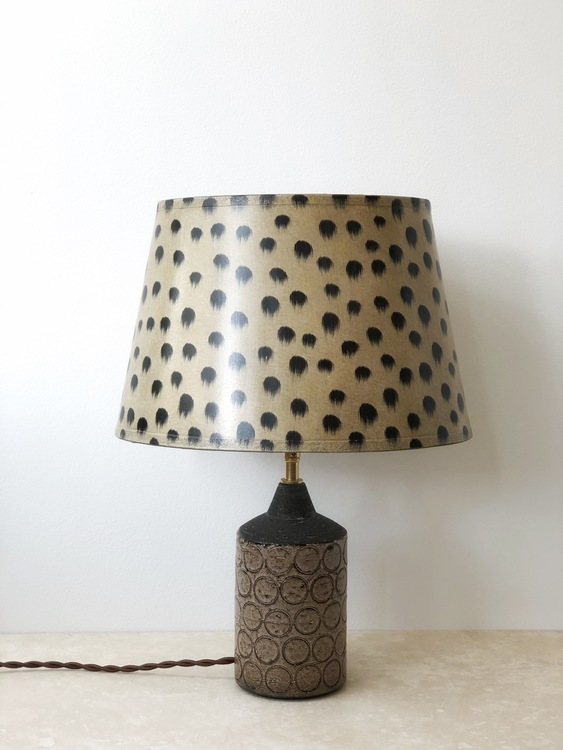 Bo Borgström Brown Stoneware Table Lamp