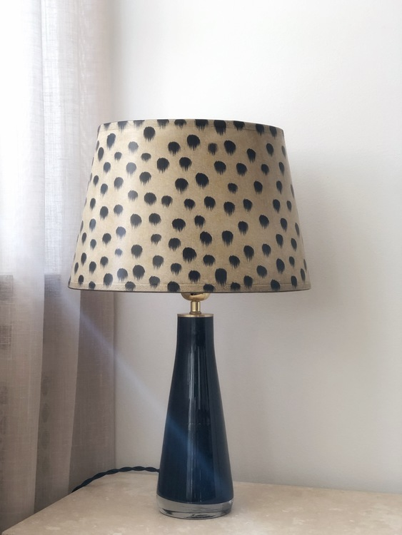 Orrefors Table Lamp Black Thick Glass