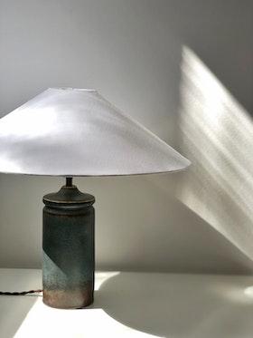 Carl Harry Stålhane Blue Stoneware Table Lamp for Rörstrand. 1960s.