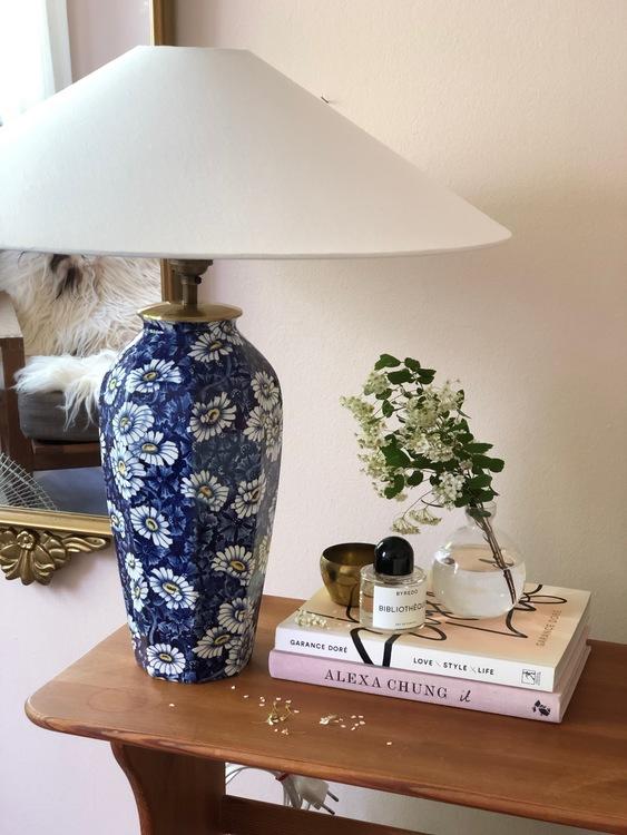 "Midcentury Modern Rörstrand Ceramic Table Lamp ""Prästkrage"""