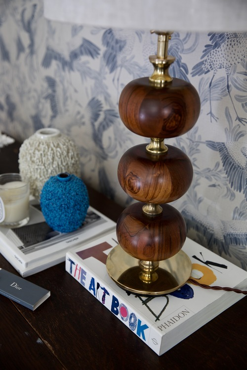 Stilarmatur Table Lamp in Brass and Rosewood. 1960s.