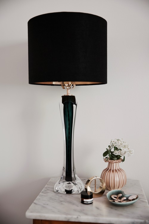 Pair of Large Flygsfors Green Table Lamps. 1960s.