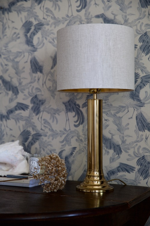 Scandinavian Modern Bergboms Brass Table Lamp