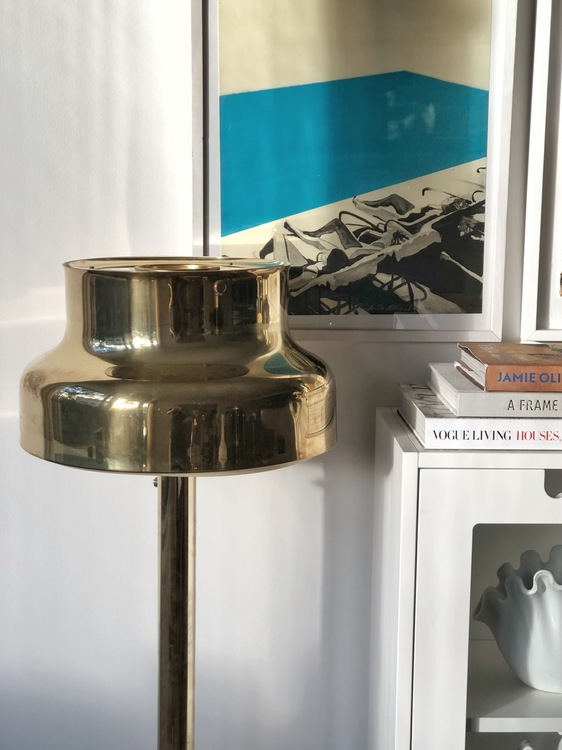 Bumling Floor Lamp in Brass by Atelje Lyktan.
