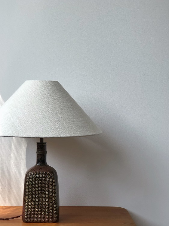 Stig Lindberg Stoneware Table Lamp for Gustavsberg Studio