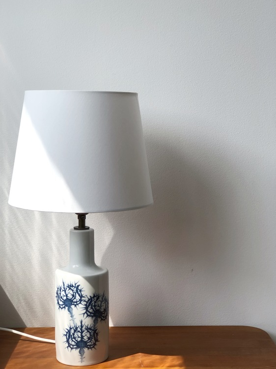 Ceramic Table Lamp by Kaj Lange for Fog & Morup / Royal Copenhagen