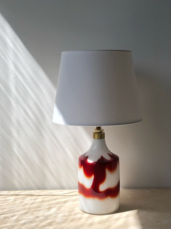 "Holmegaard ""Flame"" Table Lamp. 1970s."