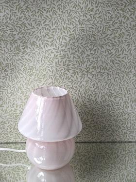 Murano Glass Pink Mushroom Table Lamp, 1970s