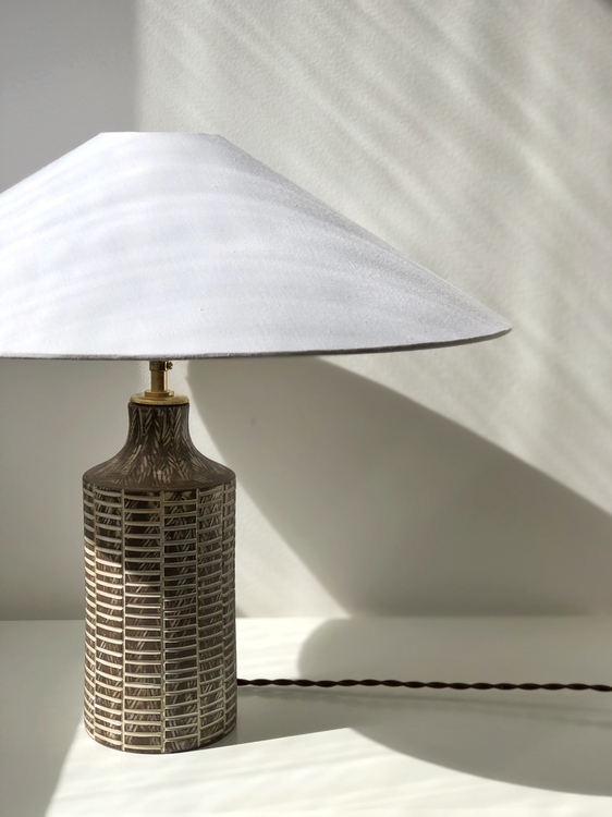 "Upsala-Ekeby Table Lamp ""Senegal"" by Mari Simmulson. 1950s."
