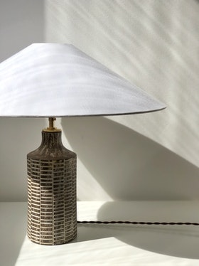 "Upsala Ekeby Table Lamp ""Senegal"" by Mari Simmulson. 1950s."