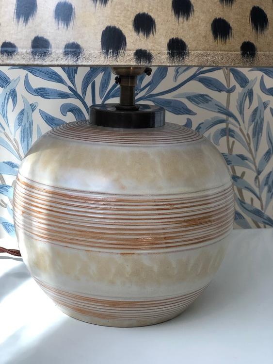 Upsala-Ekeby Art Deco Ceramic Table Lamp by Anna-Lisa Thomson. 1930s.