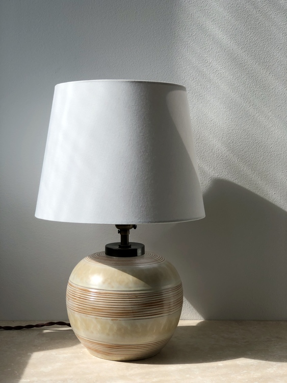 Upsala-Ekeby Art Deco Ceramic Table Lamp by Anna-Lisa Thomson. 1930s.