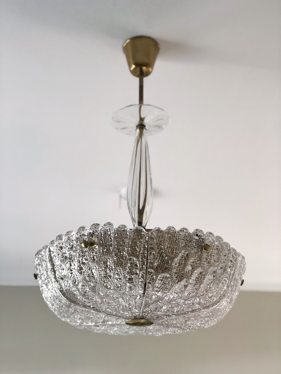 "Orrefors Crystal Chandelier ""Embassy"" by Carl Fagerlund"