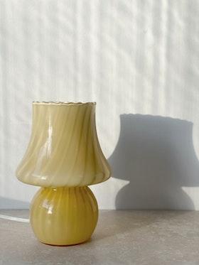 Yellow Murano Mushroom Table Lamp. 1970s.