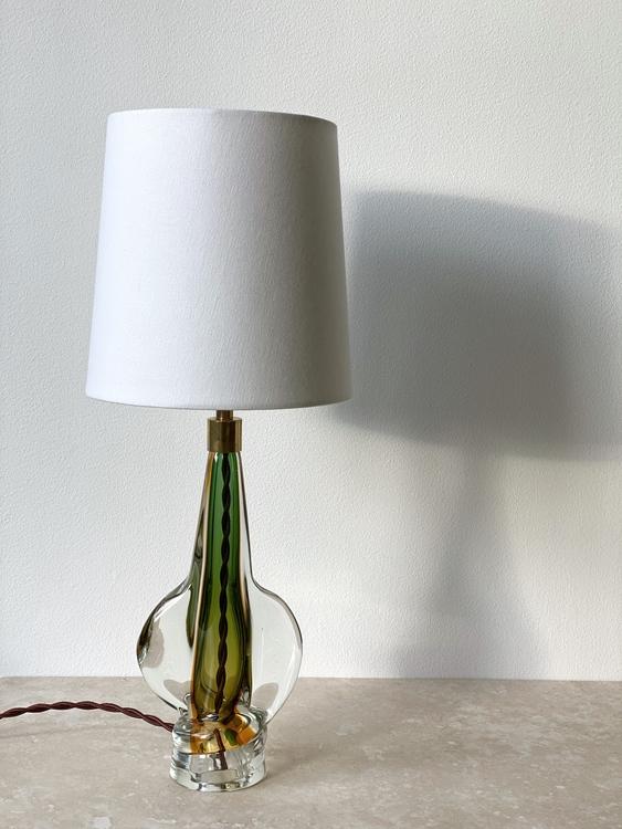 Italian Modern Murano Glass Table Lamp. 1970s.
