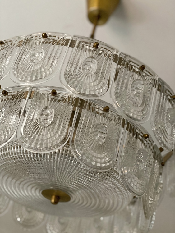 Orrefors Glass Chandelier. 1960s.
