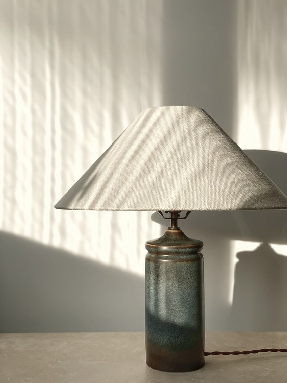 Carl Harry Stålhane Stoneware Table Lamp for Rörstrand. 1960s.