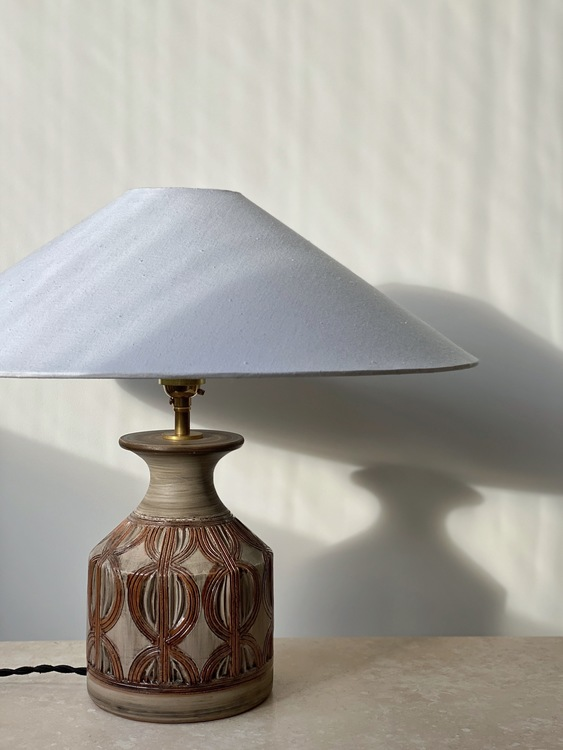 Bitossi Brown Ceramic Table Lamp. 1960s.