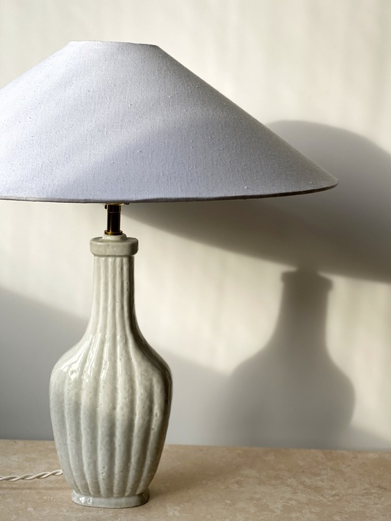 "Gunnar Nylund Sculpural Formed ""Chamotte"" Table Lamp by Rörstrand"