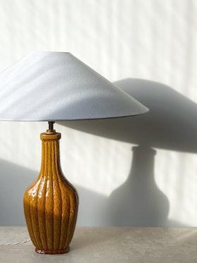 """Gunnar Nylund Sculpural Formed Mustard """"Chamotte"""" Table Lamp by Rörstrand"""