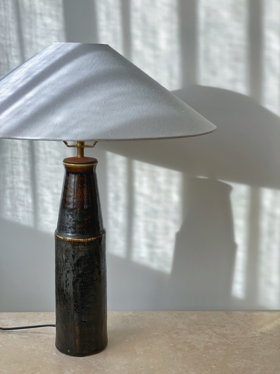 Carl-Harry Stålhane Large Stoneware Table Lamp for Rörstrand. 1960s.