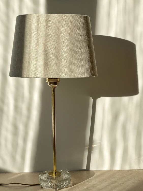Falkenbergs Belysning Brass Table Lamp Model 6275. 1960s.