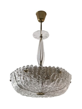 """Orrefors Crystal Chandelier """"Embassy"""" by Carl Fagerlund"""