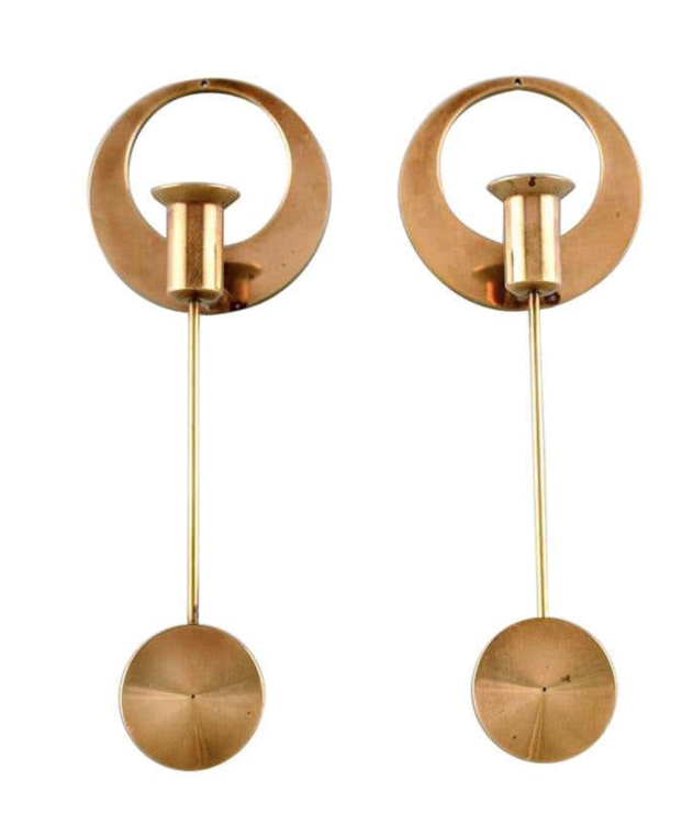 Set of two Wall Hanged Candlestick by Kolbäck, Sweden.