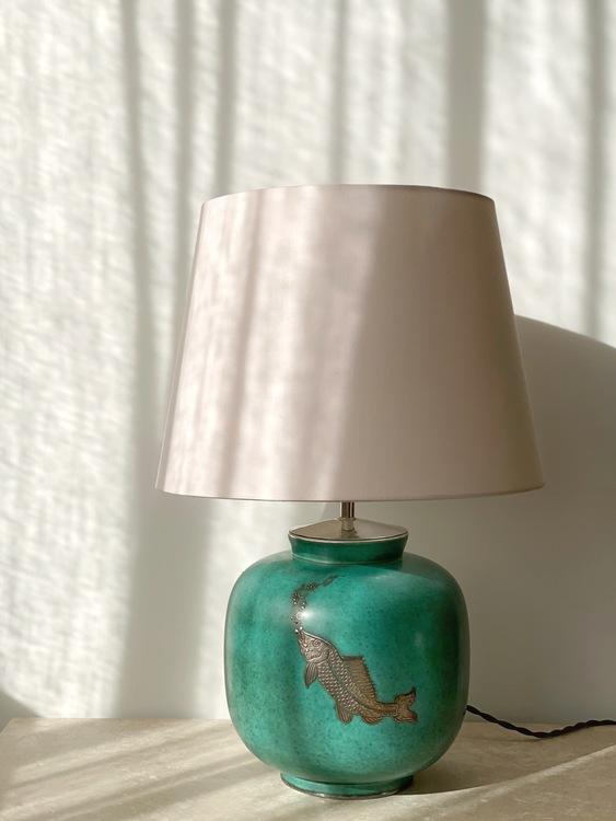 "Gustavsberg Art Deco Table Lamp ""Argenta"" by Wilhelm Kåge. 1940s."