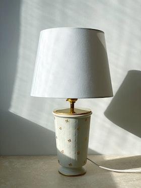 "Wilhelm Kåge ""Carrara"" Ceramic Table Lamp by Gustavsberg. 1940s."