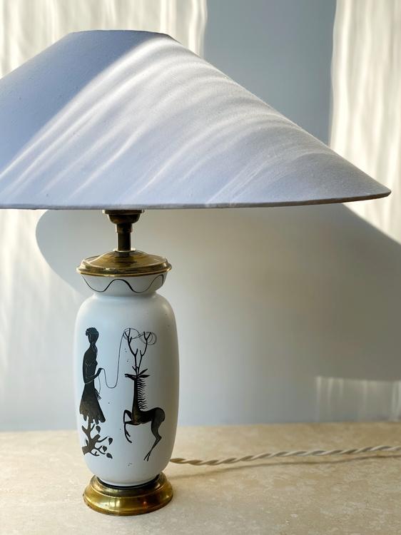 Stig Lindberg 'Grazia' Stoneware Lamp by Gustavsberg, 1950's.