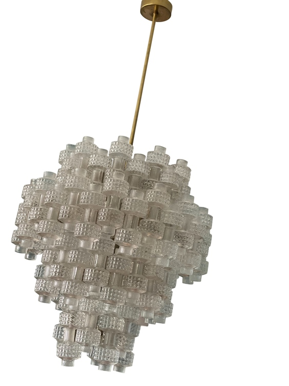 Orrefors Fagerhult Crystal Chandelier 'Festival' 4-tier