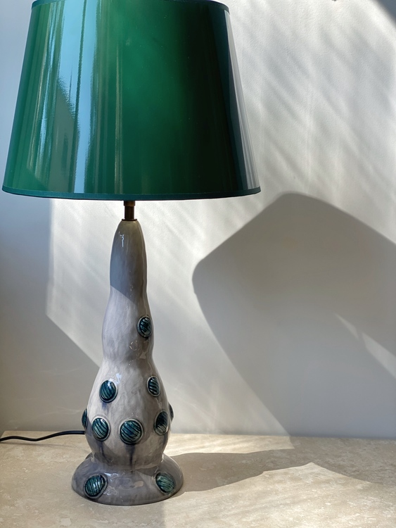 Louise Adelborg Table Lamp for Rörstrand. 1950s.