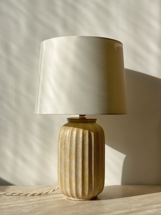 Upsala-Ekeby Art Deco Stoneware Table Lamp. 1940s.