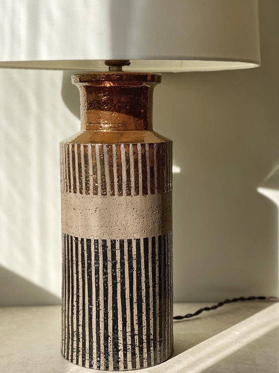 Bitossi Ceramic Table Lamp for Bergboms. 1960s.