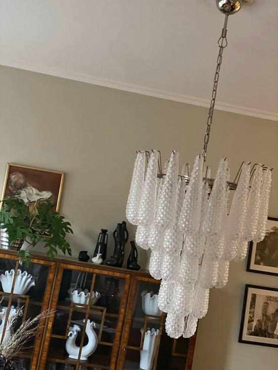 Murano Chandelier Medium Size in the Style of Ercole Barovier