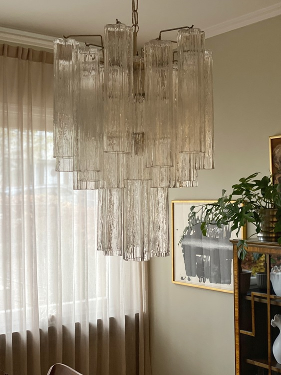 Murano Chandelier Tubular Crystal Prisms