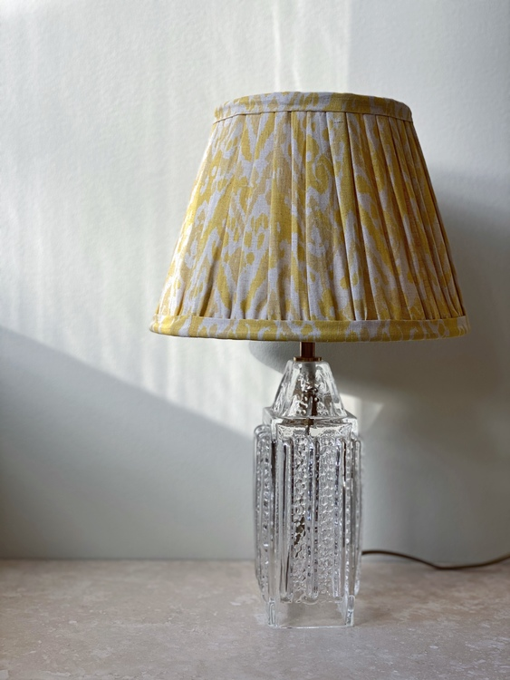 Mid-Century Crystal Table Lamp