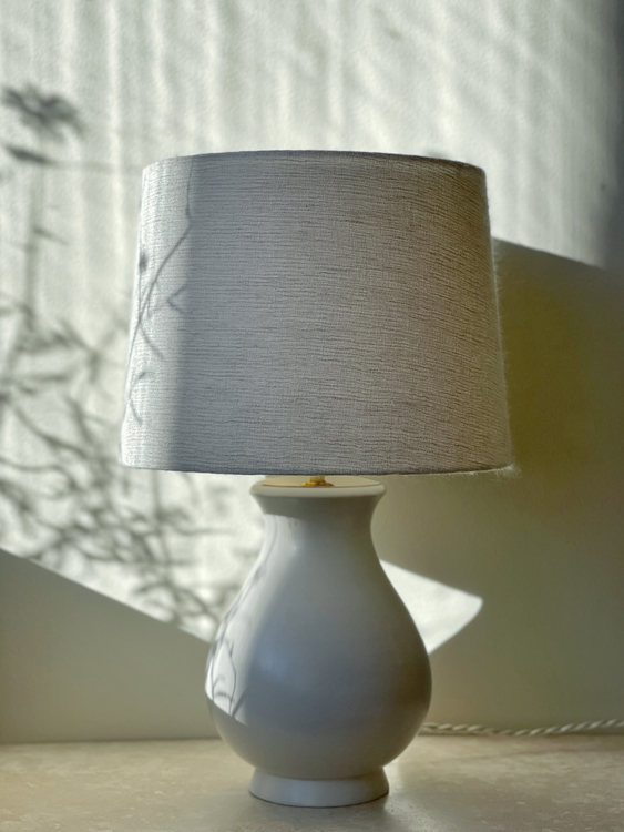 "Wilhelm Kåge ""Carrara"" Ceramic Table Lamp. 1940s."
