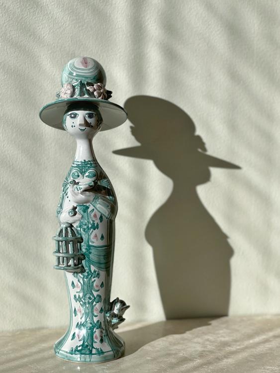 Björn Wiinblad Green Figurine. 1980s.