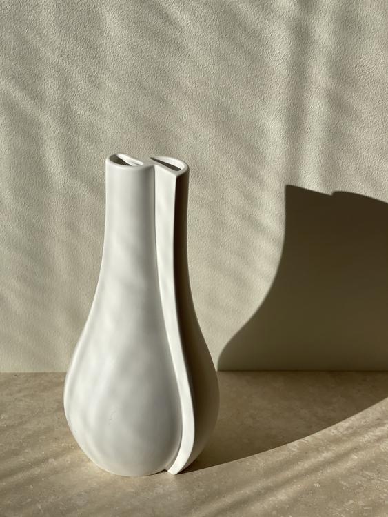 """Wilhelm Kåge Large Stoneware Vase """"Surrea"""" by Gustavsberg. 1940s."""