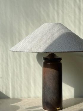 Stålhane Brown Stoneware Table Lamp for Rörstrand. 1960s.