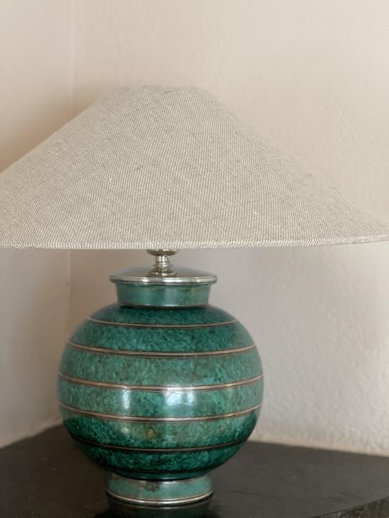 "Gustavsberg Table Lamp ""Argenta"" by Wilhelm Kåge. 1940s."
