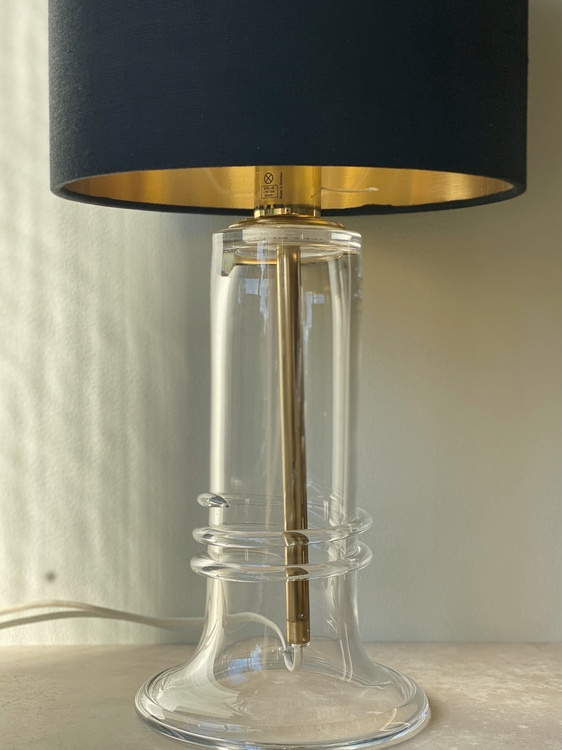 Atelje Lyktan Glass Table Lamp. 1980s.
