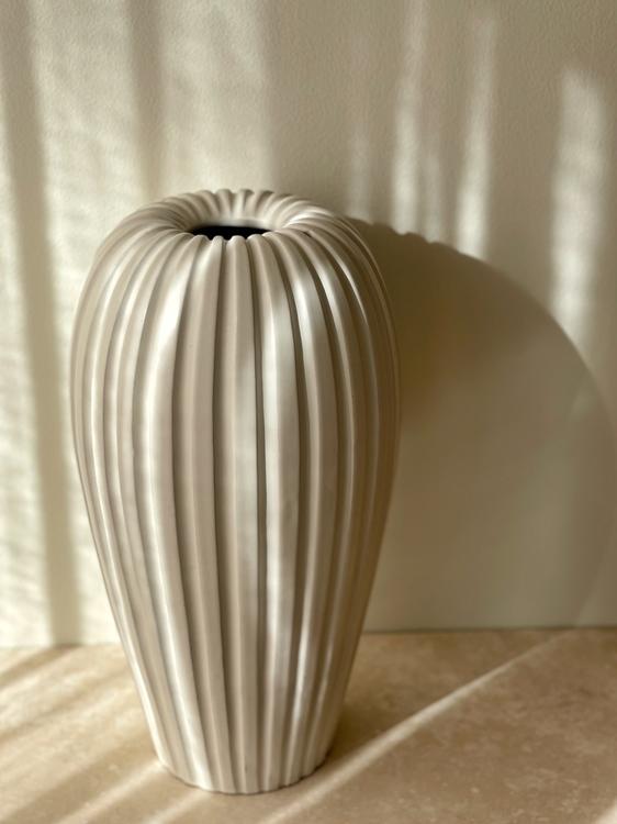 Upsala Ekeby Large Stoneware Vase by Vicke Lindestrand. 1950s.