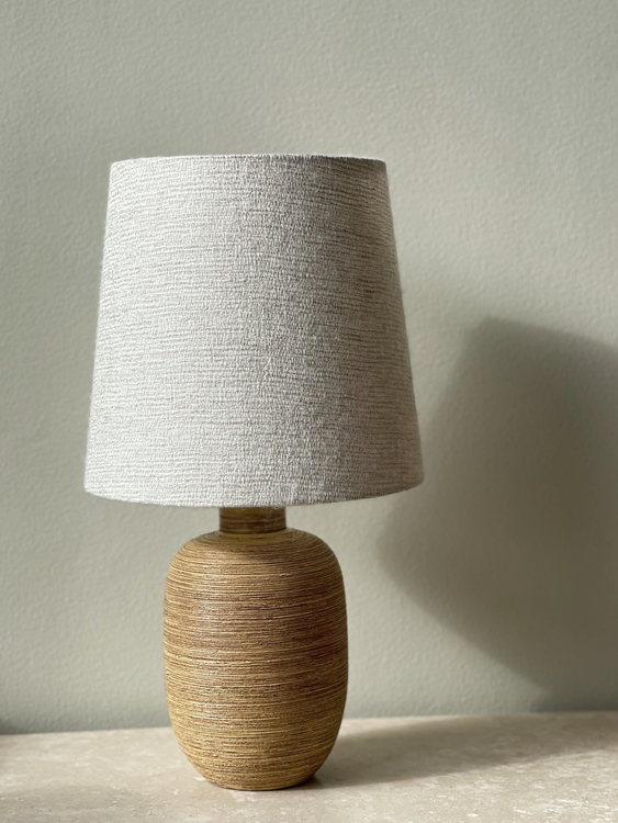 Upsala-Ekeby Ceramic Table Lamp by Greta Runeborg. 1930s.