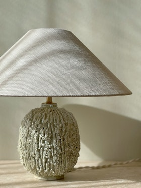 "Gunnar Nylund ""Chamotte"" Mint Table Lamp for Rörstrand"