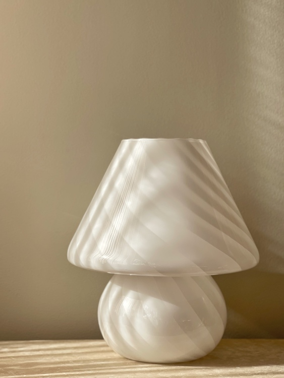 Large Murano Mushroom Table Lamp, 1970s.
