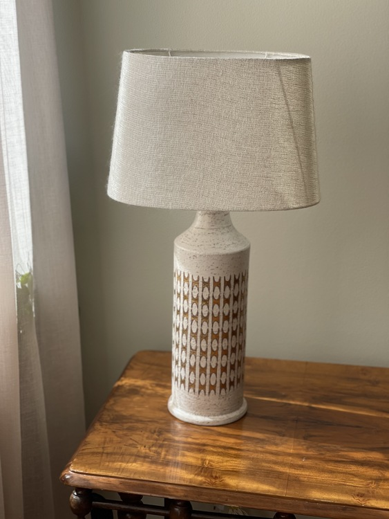 Bitossi for Bergboms Large Stoneware Table Lamp. 1960s.